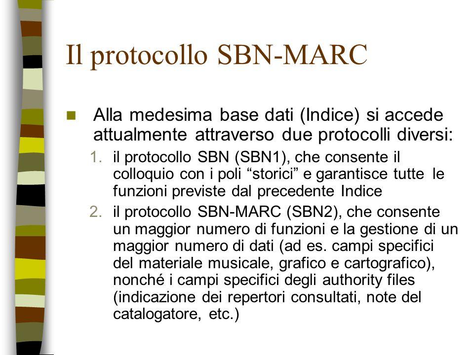 Il protocollo SBN-MARC