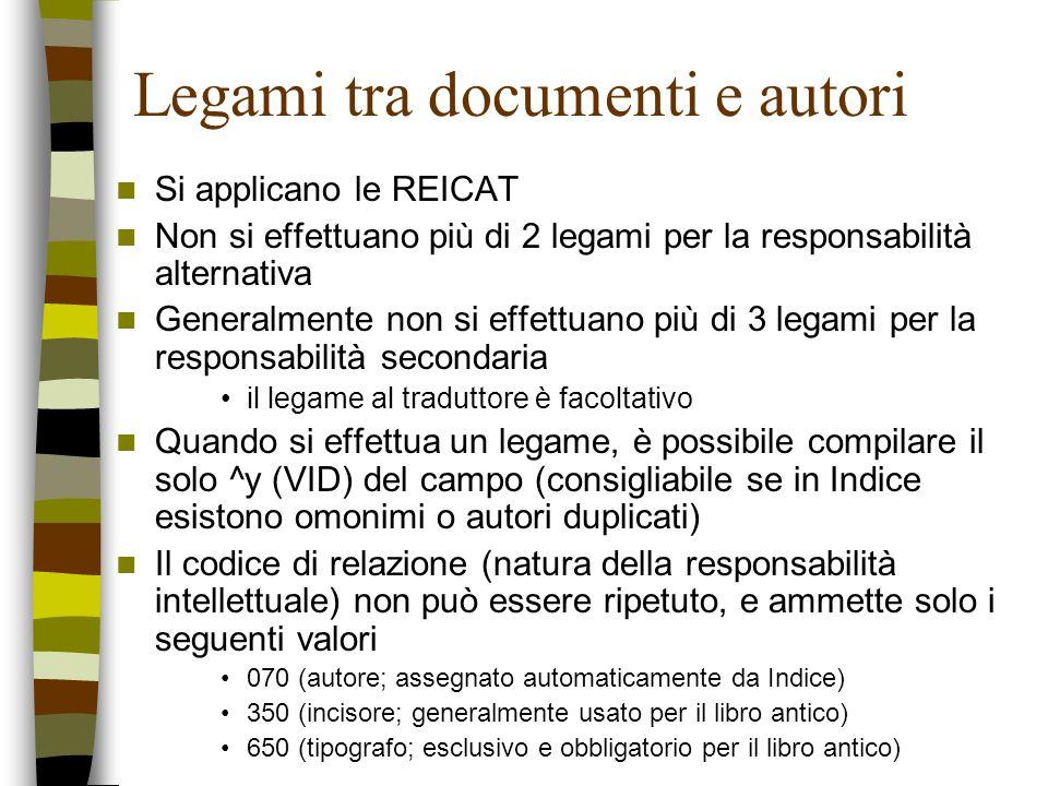 Legami tra documenti e autori