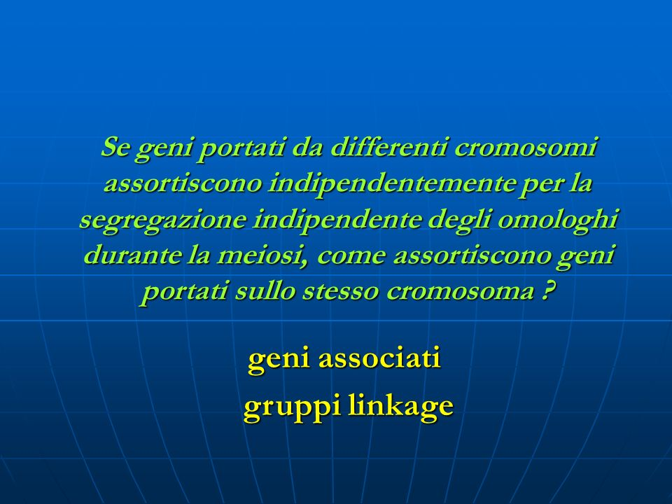 geni associati gruppi linkage