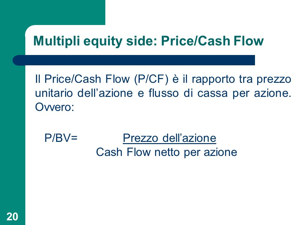 Multipli equity side: Price/Cash Flow
