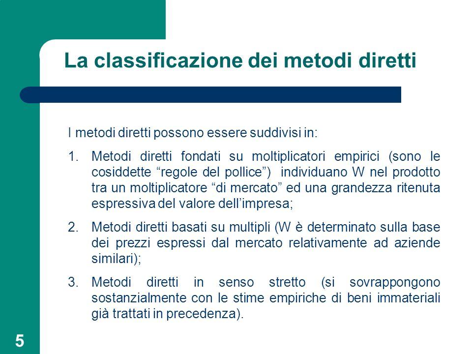 La classificazione dei metodi diretti