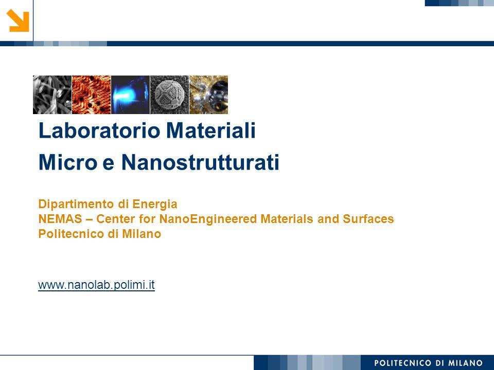 Laboratorio Materiali Micro e Nanostrutturati