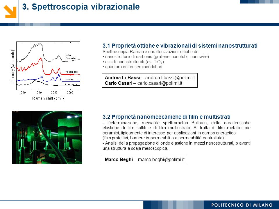 3. Spettroscopia vibrazionale