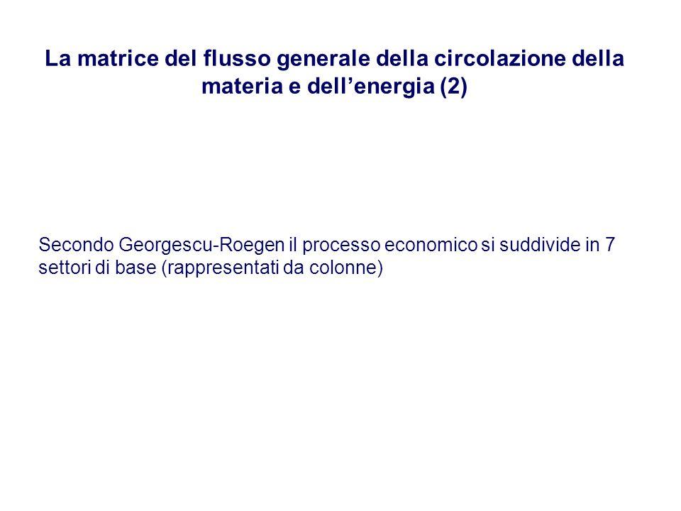 La matrice del flusso generale della circolazione della materia e dell'energia (2)