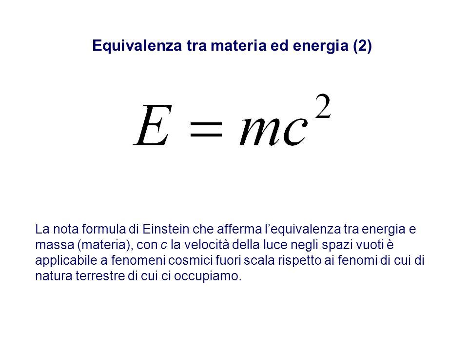 Equivalenza tra materia ed energia (2)
