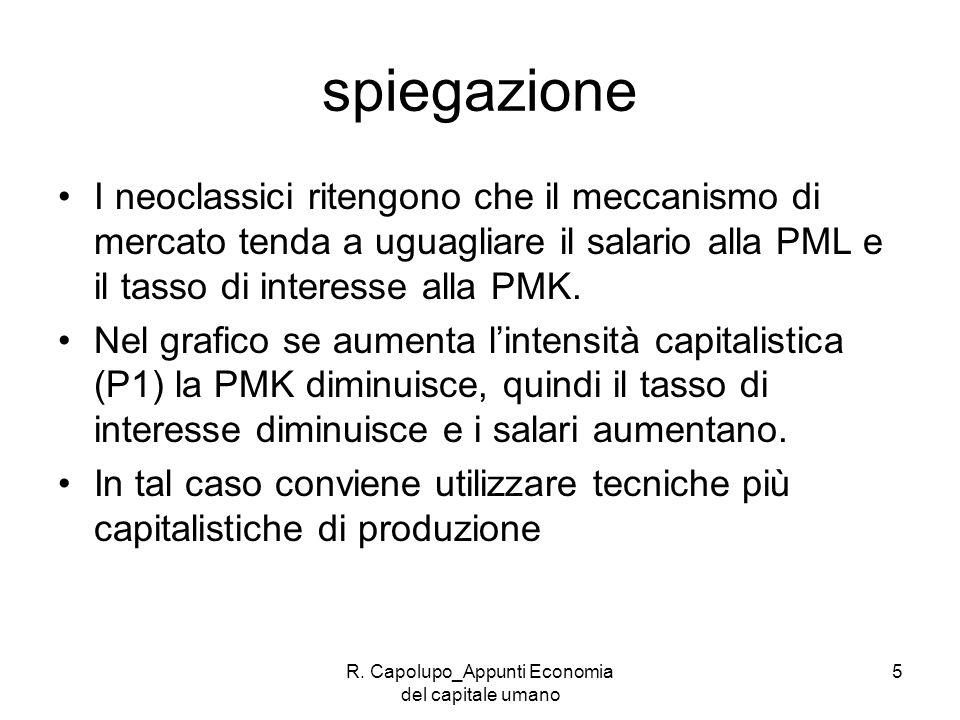 R. Capolupo_Appunti Economia del capitale umano