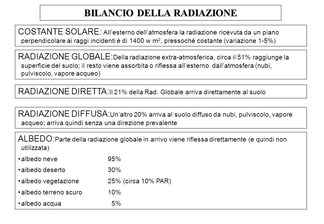 BILANCIO DELLA RADIAZIONE