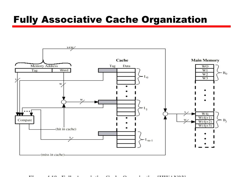 Fully Associative Cache Organization