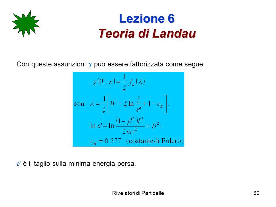 Lezione 6 Teoria di Landau