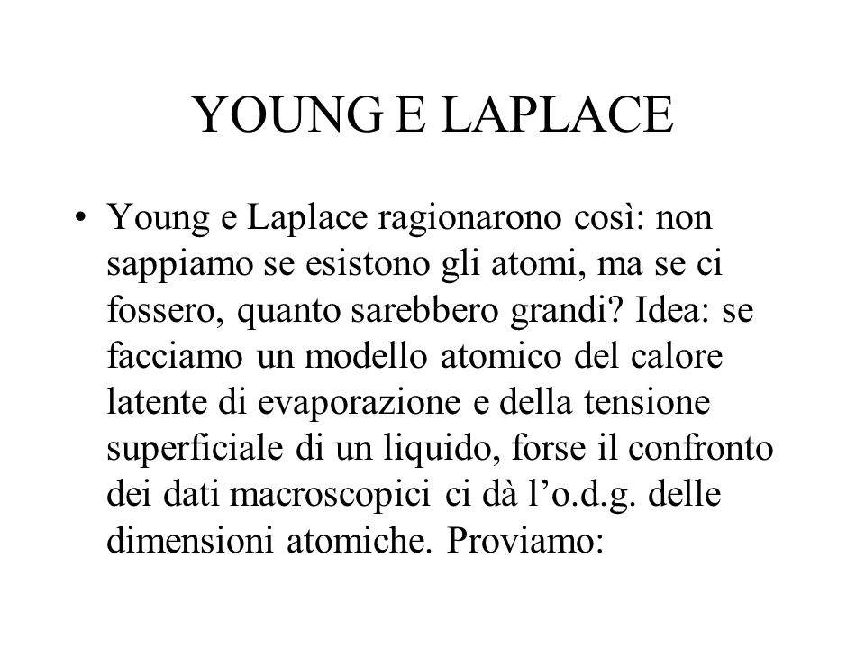 YOUNG E LAPLACE