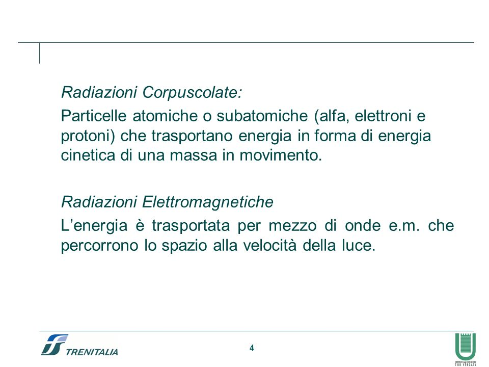 Radiazioni Corpuscolate: