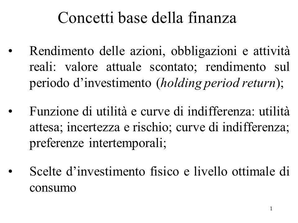 Concetti base della finanza