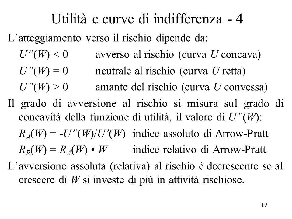 Utilità e curve di indifferenza - 4