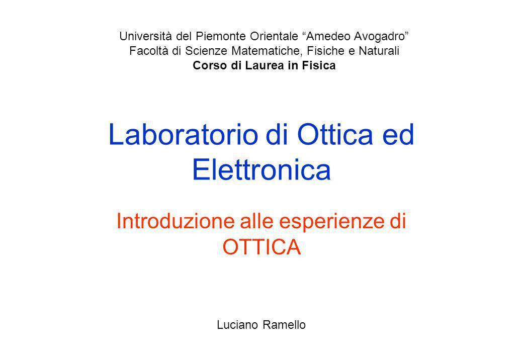 Laboratorio di Ottica ed Elettronica