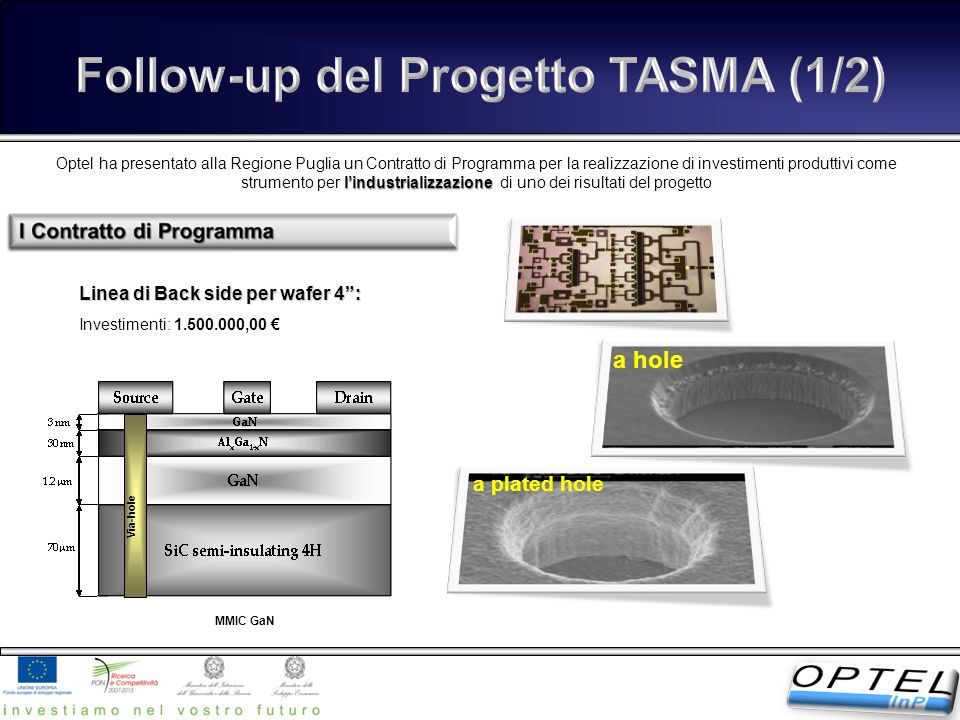 Follow-up del Progetto TASMA (1/2)