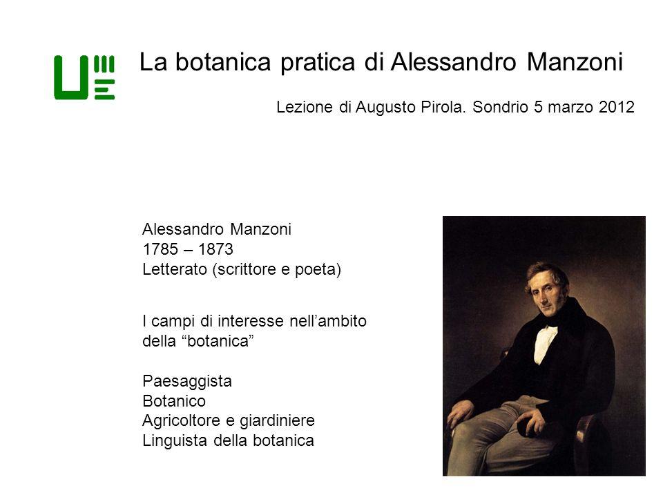 La botanica pratica di Alessandro Manzoni