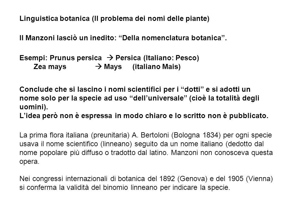 Linguistica botanica (Il problema dei nomi delle piante)