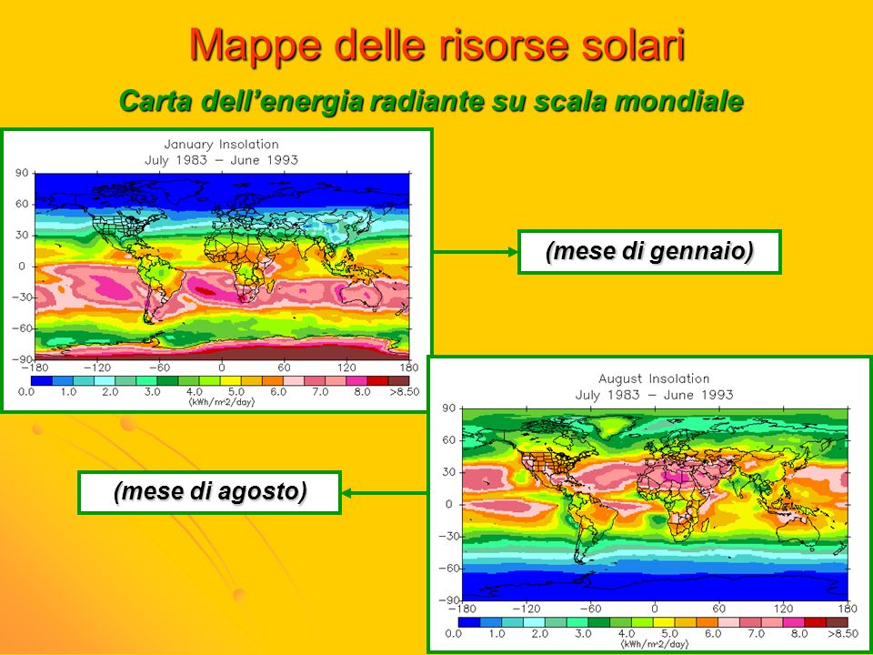 Mappe delle risorse solari