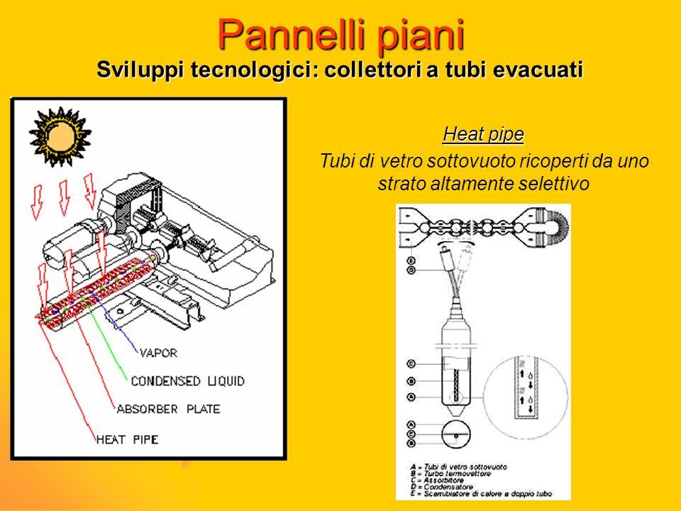Sviluppi tecnologici: collettori a tubi evacuati