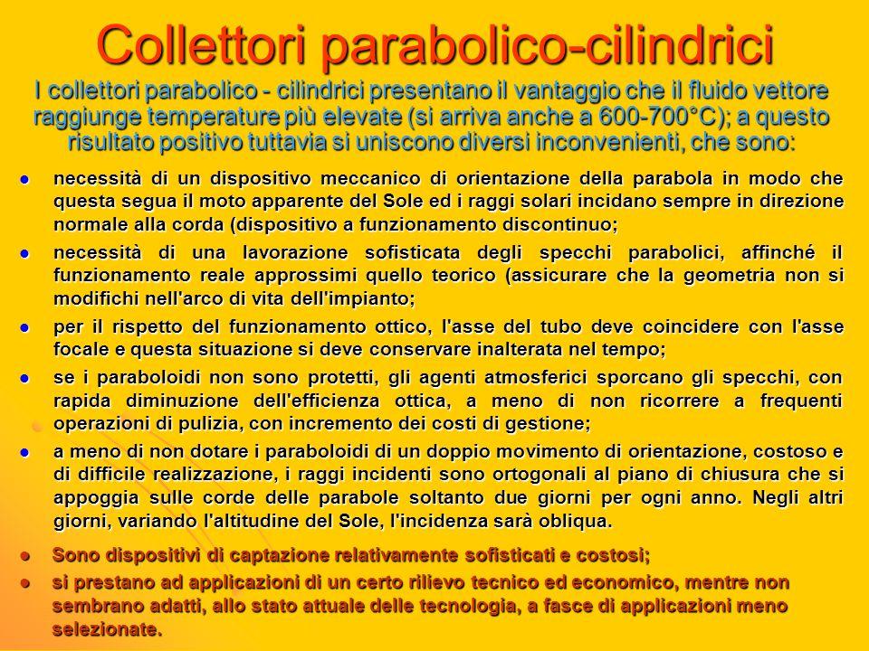 Collettori parabolico-cilindrici