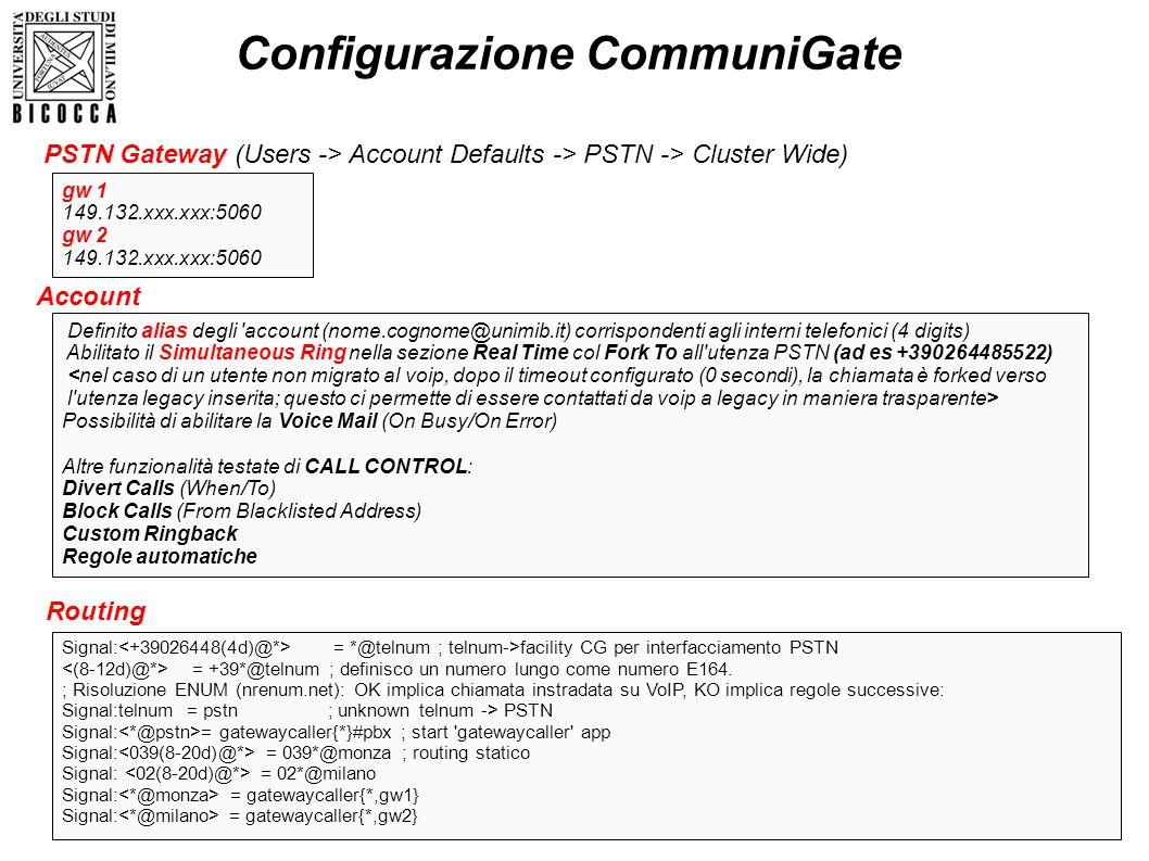 Configurazione CommuniGate