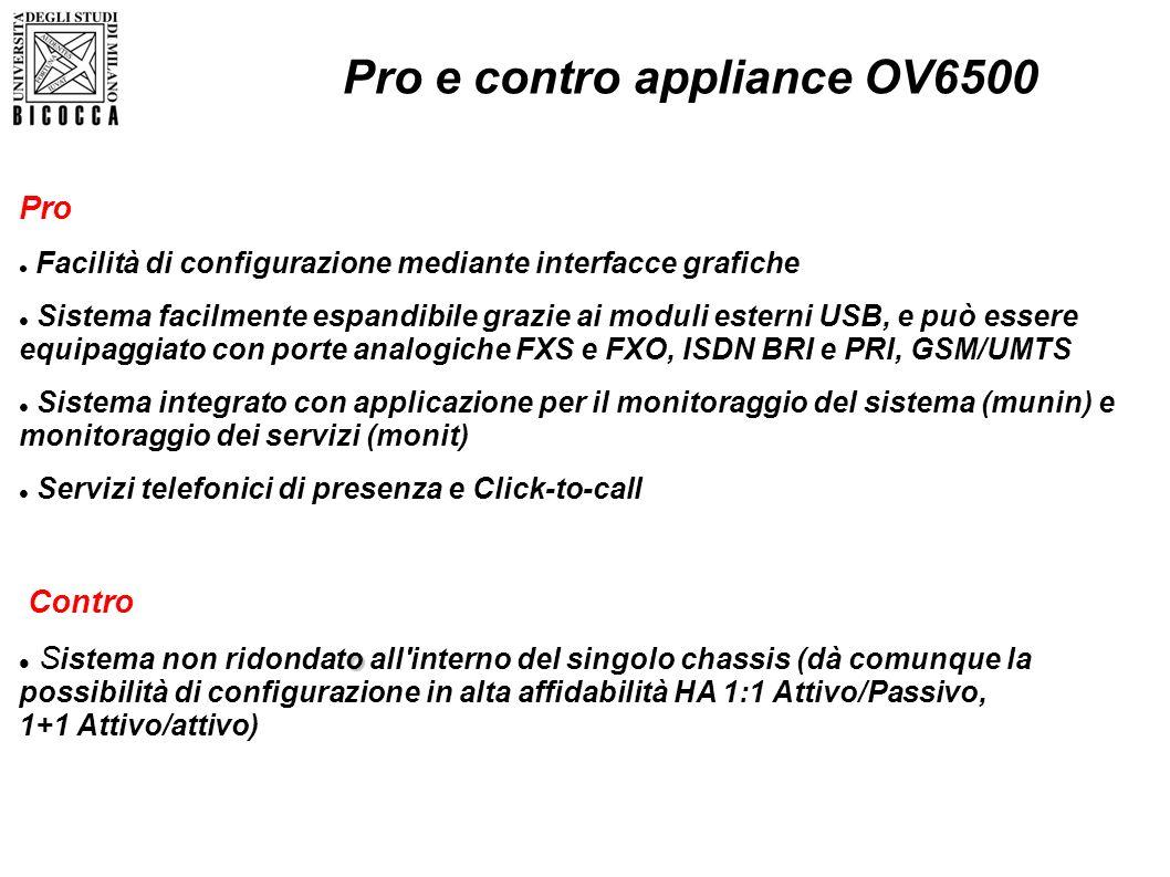Pro e contro appliance OV6500
