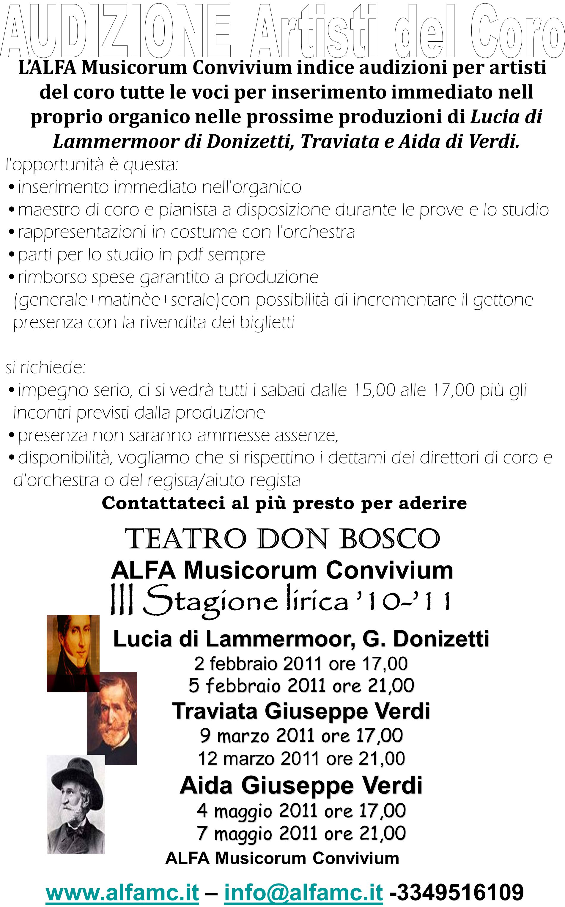 III Stagione lirica '10-'11