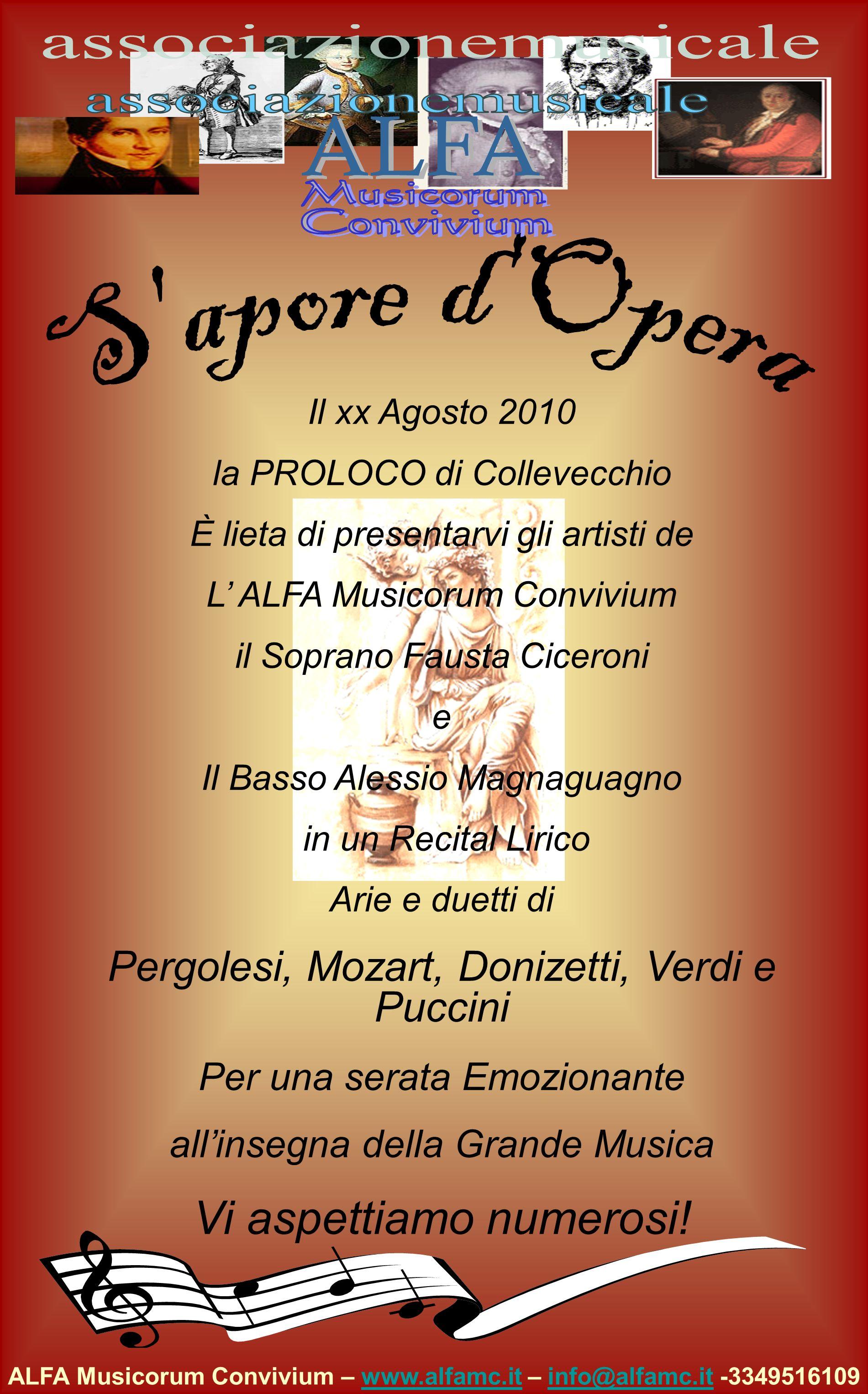 ALFA Musicorum Convivium – www.alfamc.it – info@alfamc.it -3349516109