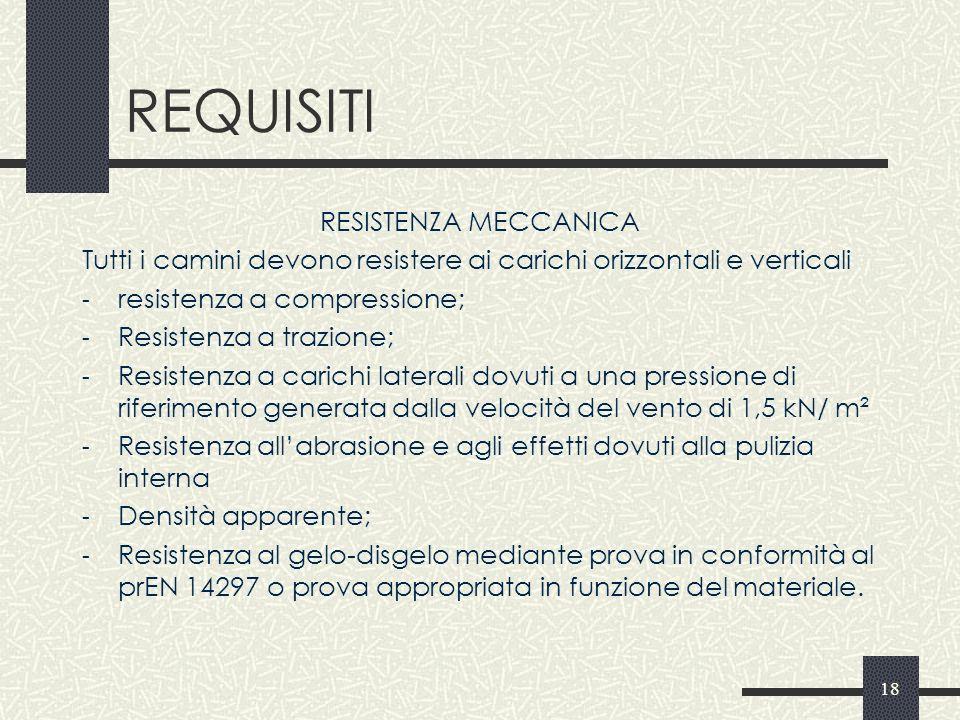 REQUISITI RESISTENZA MECCANICA