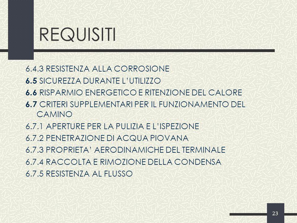 REQUISITI 6.4.3 RESISTENZA ALLA CORROSIONE