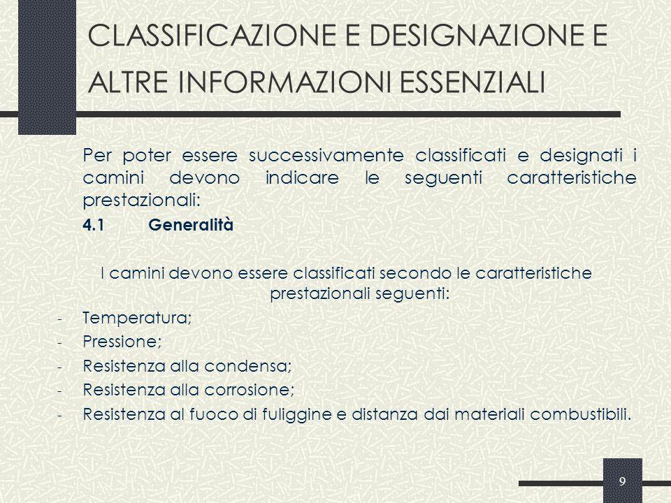CLASSIFICAZIONE E DESIGNAZIONE E ALTRE INFORMAZIONI ESSENZIALI