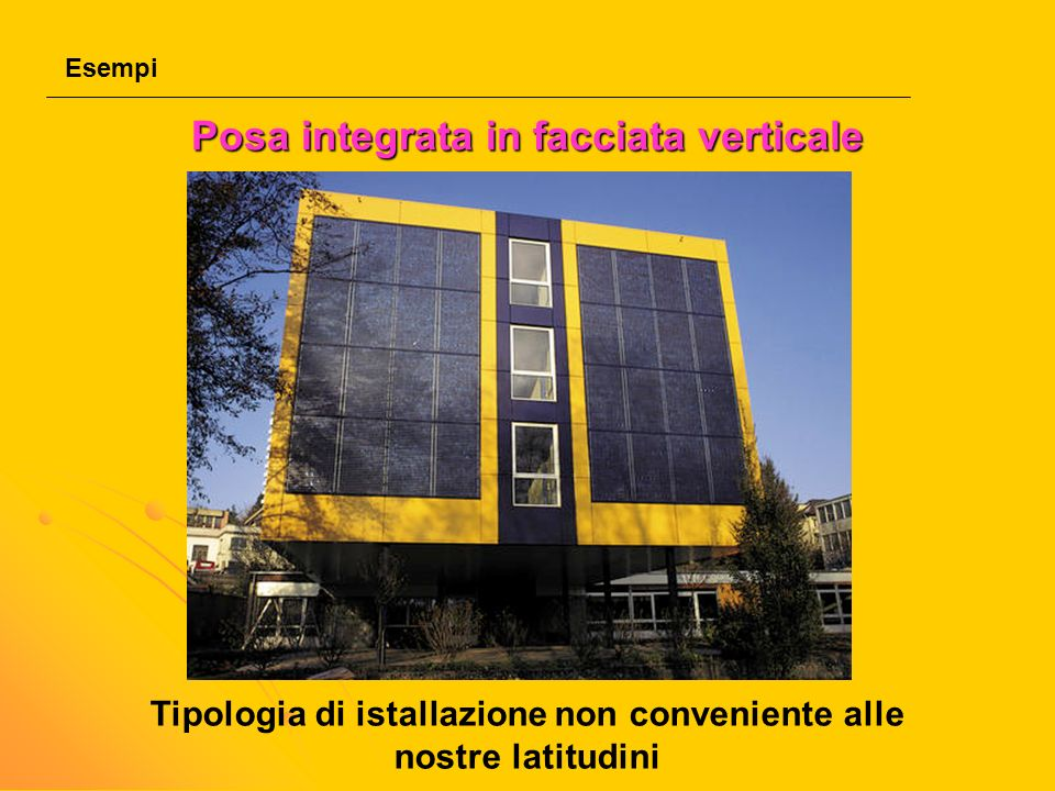 Posa integrata in facciata verticale