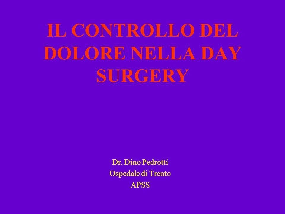 IL CONTROLLO DEL DOLORE NELLA DAY SURGERY