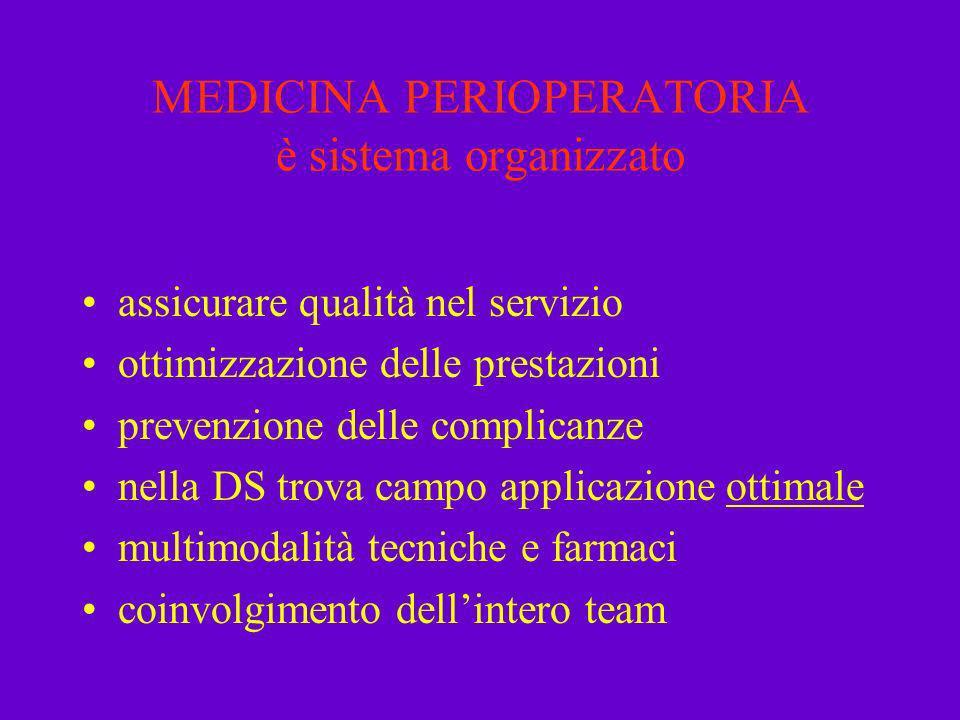 MEDICINA PERIOPERATORIA è sistema organizzato