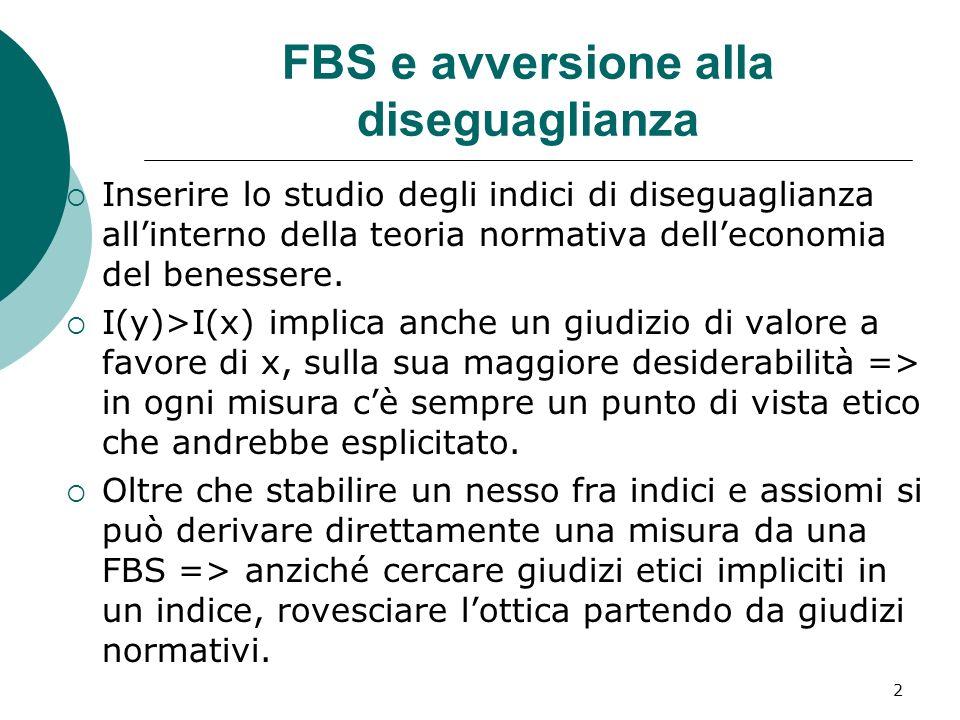 FBS e avversione alla diseguaglianza