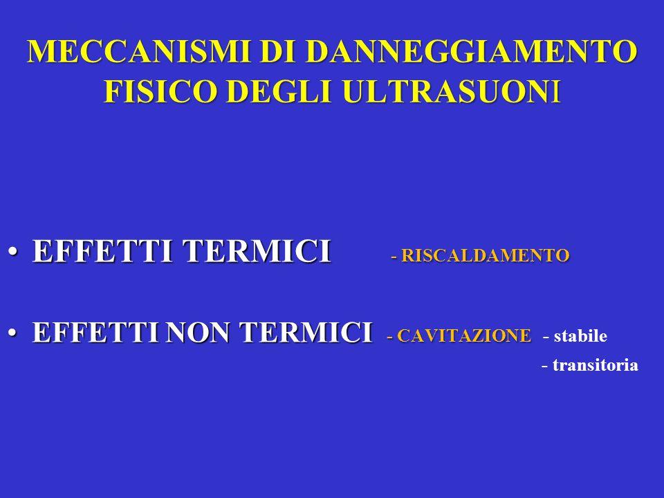 MECCANISMI DI DANNEGGIAMENTO FISICO DEGLI ULTRASUONI