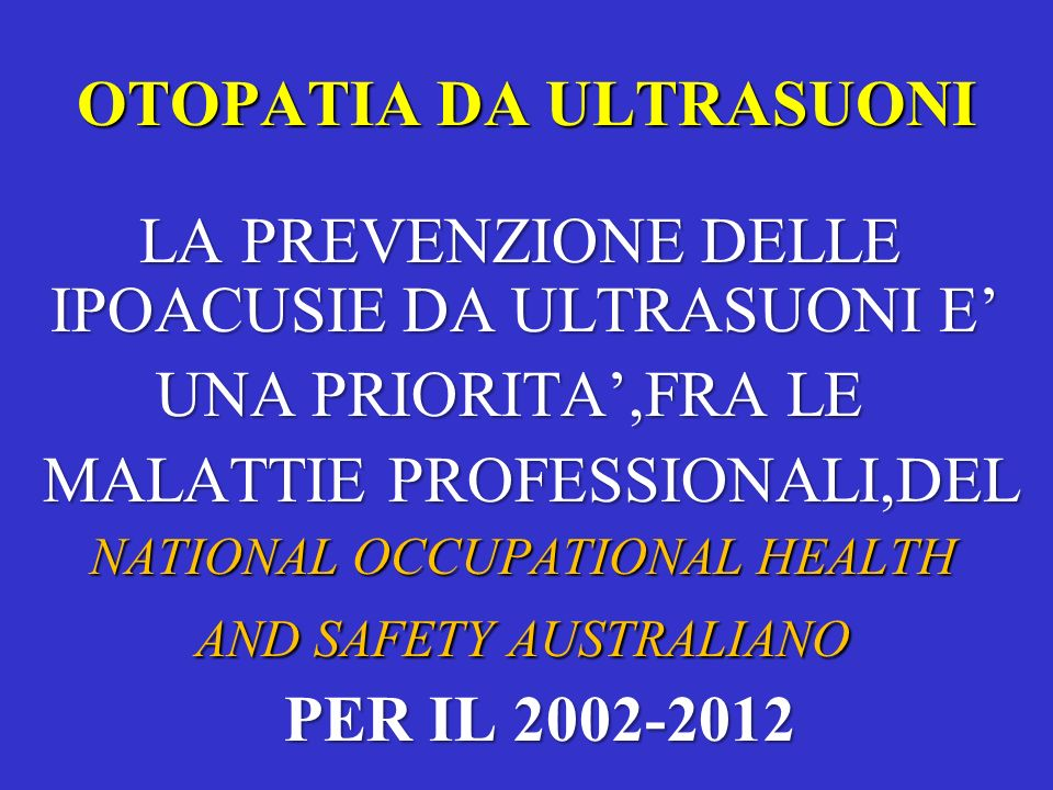 OTOPATIA DA ULTRASUONI
