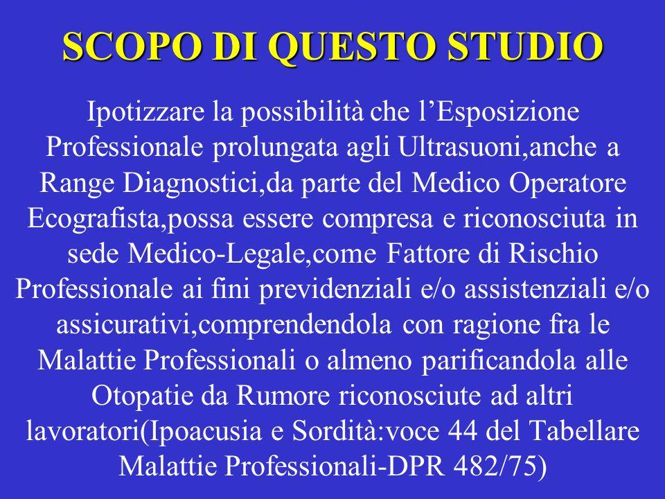 SCOPO DI QUESTO STUDIO