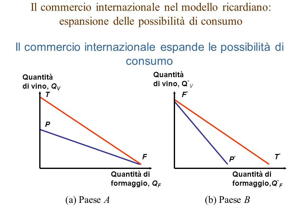 Il commercio internazionale espande le possibilità di consumo