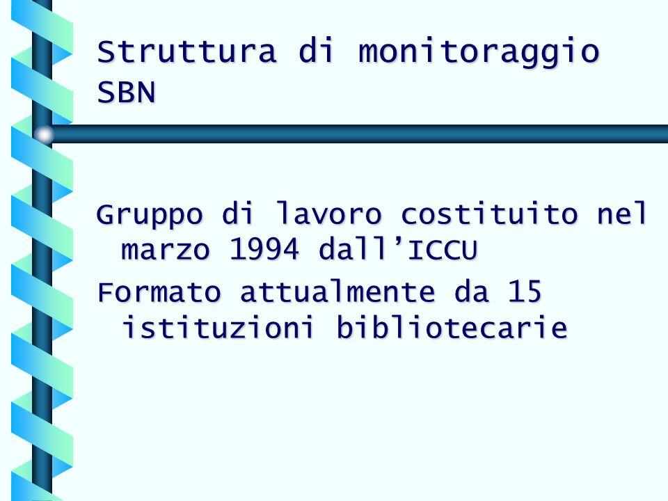 Struttura di monitoraggio SBN