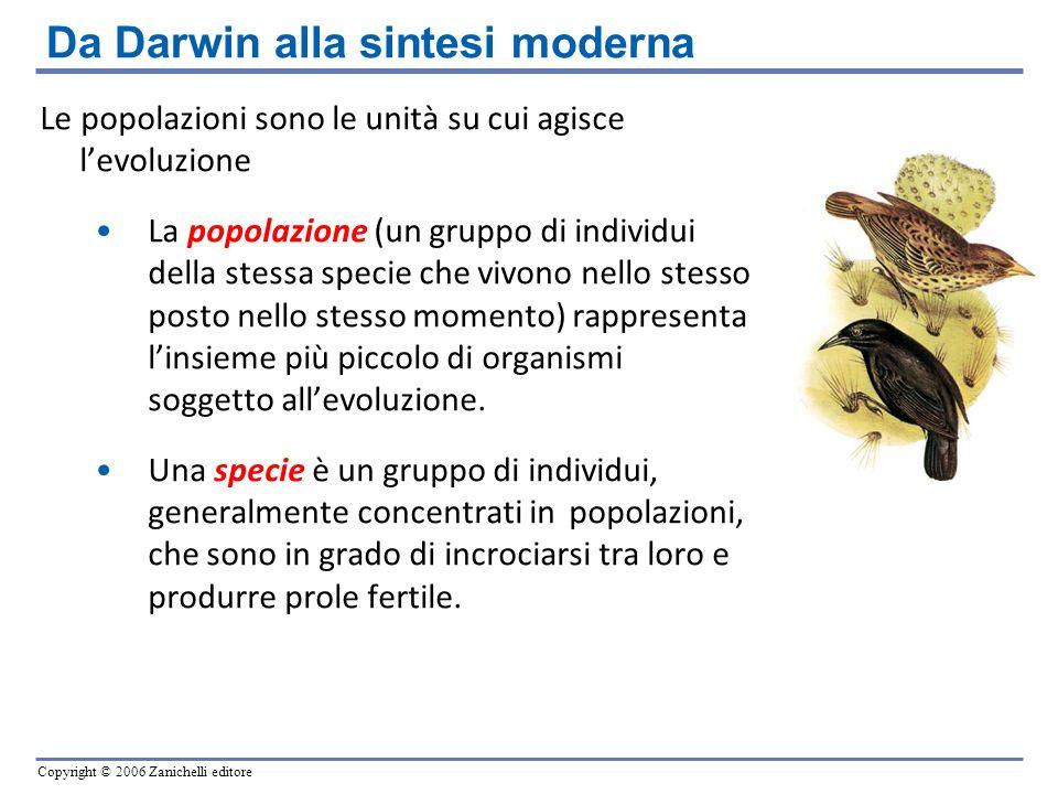 Da Darwin alla sintesi moderna