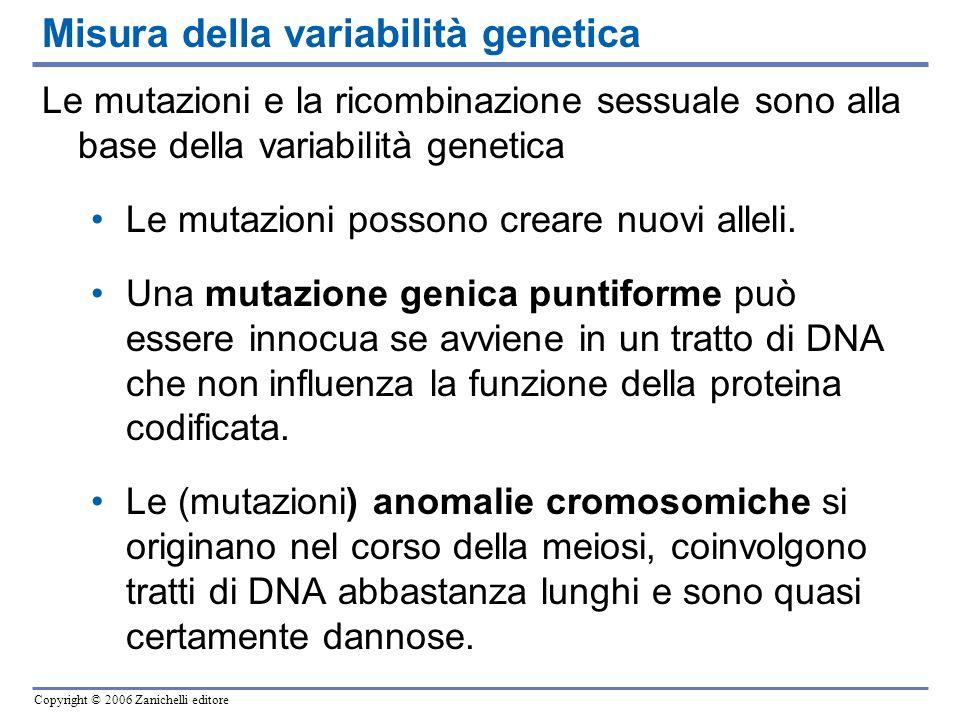 Misura della variabilità genetica