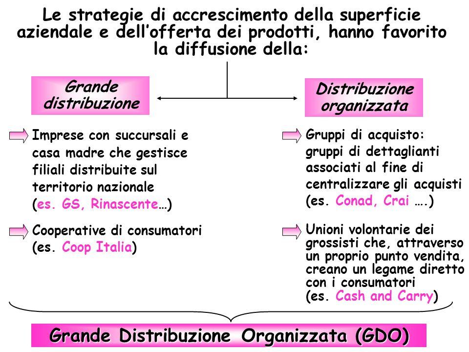Distribuzione organizzata Grande Distribuzione Organizzata (GDO)
