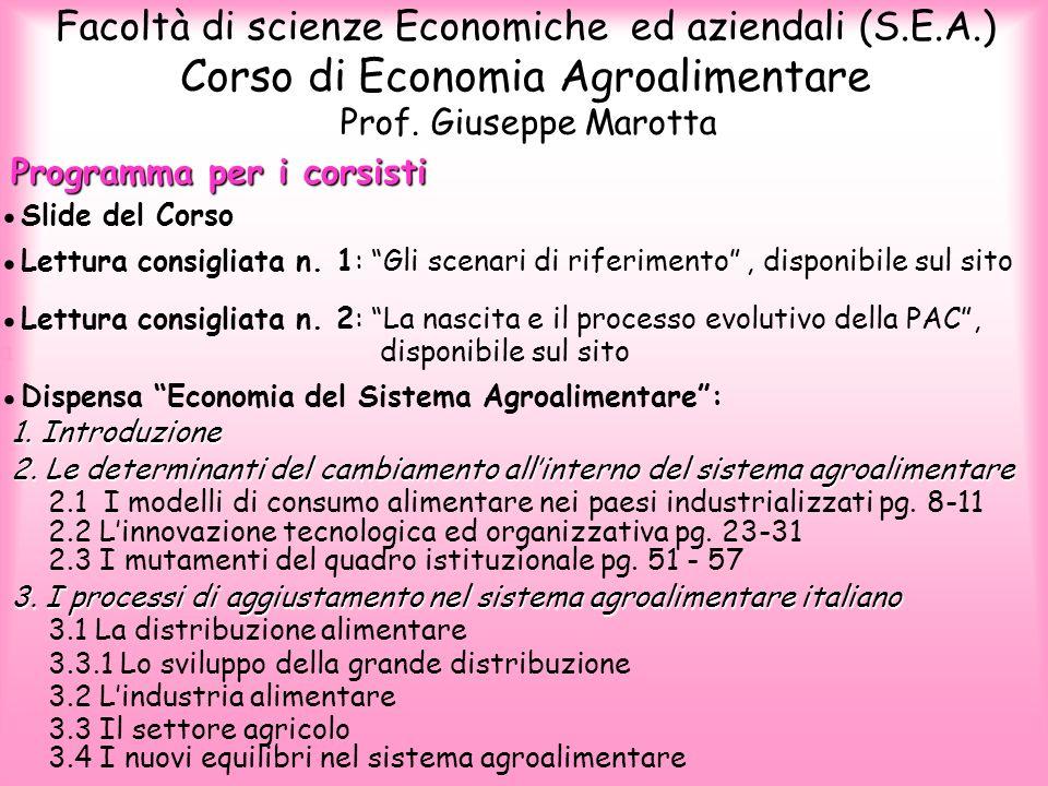 Corso di Economia Agroalimentare