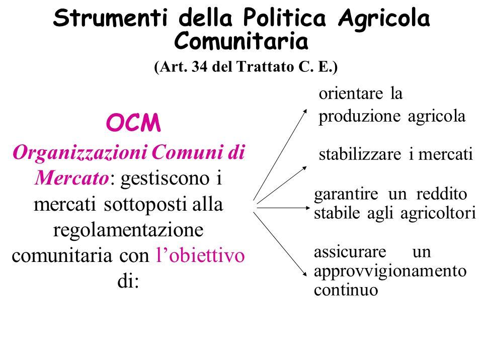 Strumenti della Politica Agricola Comunitaria