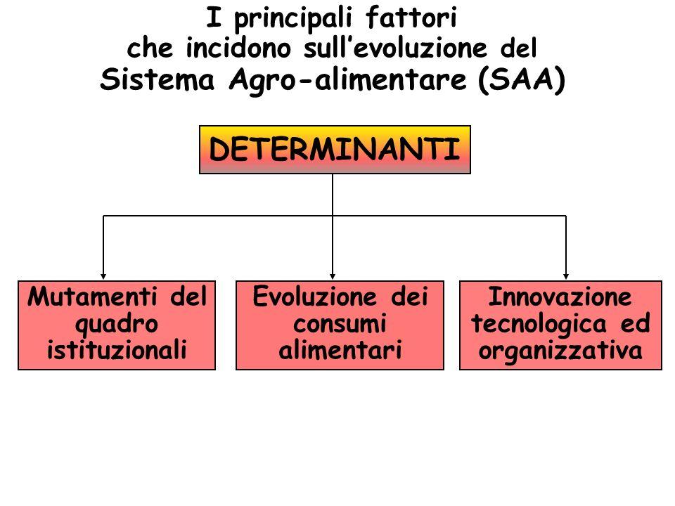 I principali fattori che incidono sull'evoluzione del Sistema Agro-alimentare (SAA)