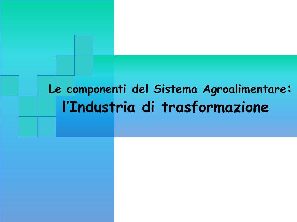 Le componenti del Sistema Agroalimentare: l'Industria di trasformazione