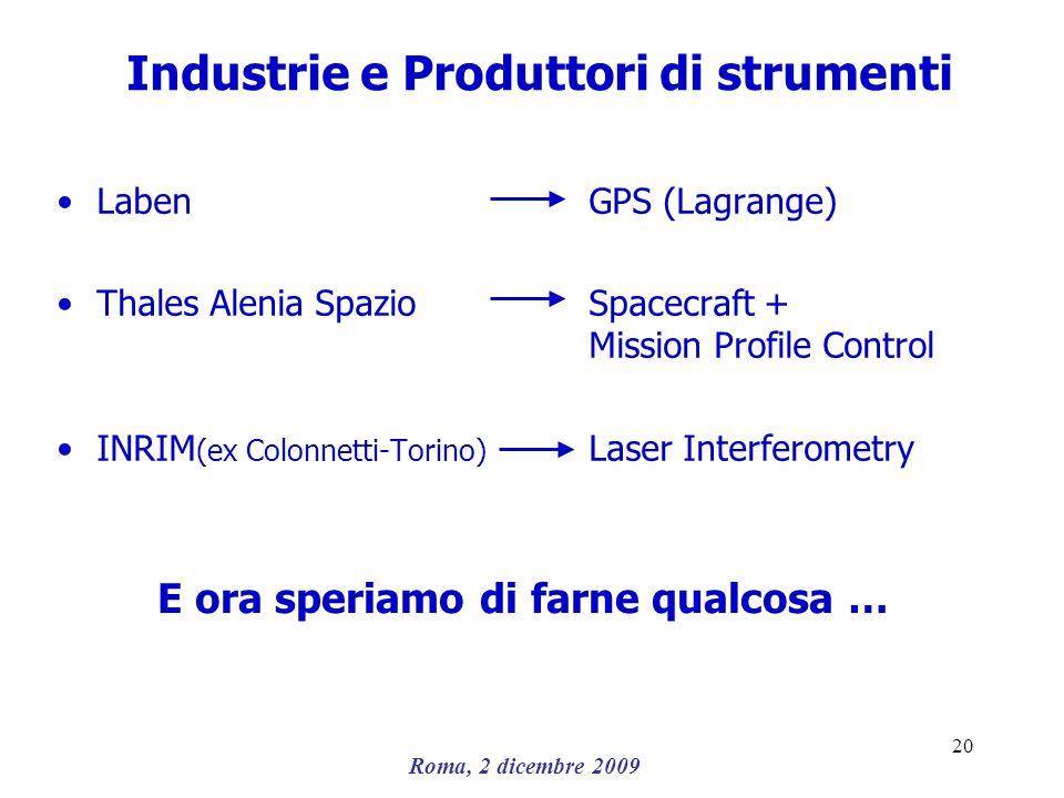 Industrie e Produttori di strumenti