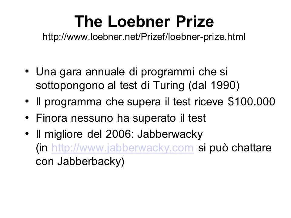 The Loebner Prize