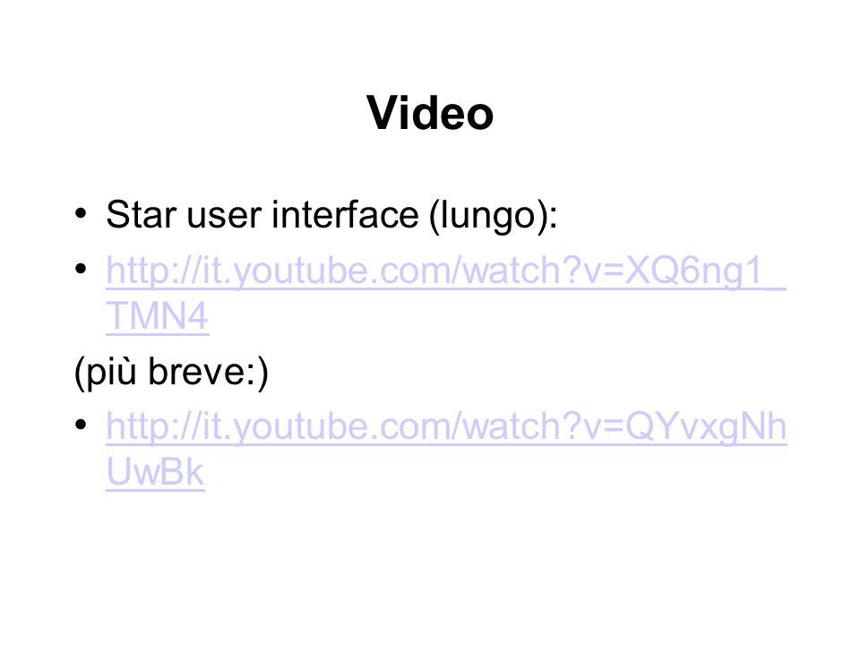 Video Star user interface (lungo):
